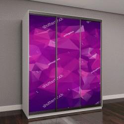 """Шкаф купе с фотопечатью """"Абстрактный треугольник, фиолетовый фон"""""""