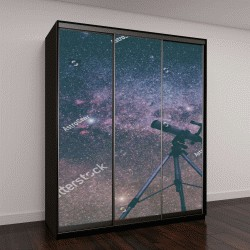 """Шкаф купе с фотопечатью """"звезды через телескоп"""""""