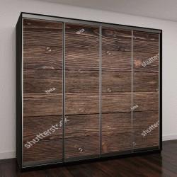 """Шкаф купе с фотопечатью """"Текстура древесины венге"""""""