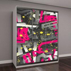 """Шкаф купе с фотопечатью """"Абстрактный бесшовные векторные шаблон для девочек, мальчиков, одежду"""""""