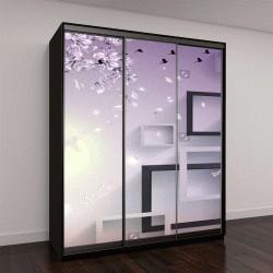"""Шкаф купе с фотопечатью """"3Д прямоугольный абстракции обои для рабочего стола"""""""