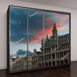 """Шкаф купе с фотопечатью """"Королевский дворец на площади Дам в Амстердаме"""""""