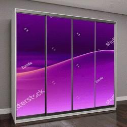 """Шкаф купе с фотопечатью """"волна на фиолетовом фоне"""""""