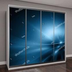"""Шкаф купе с фотопечатью """"Абстрактный синий фон"""""""