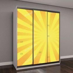 """Шкаф купе с фотопечатью """"желтый фон, градиент в стиле поп-арт """""""