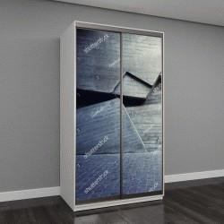 """Шкаф купе с фотопечатью """"Абстрактный геометрический фон из бетона"""""""