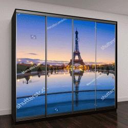 """Шкаф купе с фотопечатью """"Застывшие отражения в Париже"""""""