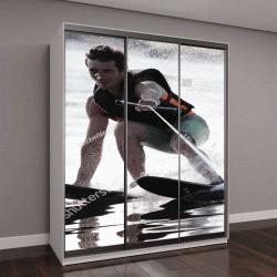 """Шкаф купе с фотопечатью """"Спортсмен на водных лыжах """""""
