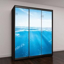 """Шкаф купе с фотопечатью """"синие волны океана"""""""