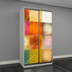 """Шкаф купе с фотопечатью """"разноцветные квадраты"""""""