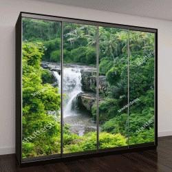 """Шкаф купе с фотопечатью """"Водопад в джунглях"""""""