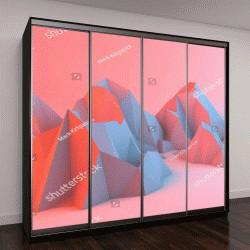 """Шкаф купе с фотопечатью """"Красочные абстрактные горы"""""""