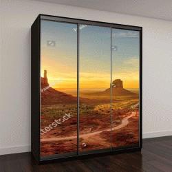 """Шкаф купе с фотопечатью """"Восход, вид на Долину Монументов, Аризона, США"""""""