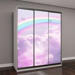 """Шкаф купе с фотопечатью """"волшебный пейзаж, радуга на небе"""""""