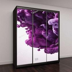 """Шкаф купе с фотопечатью """"Фиолетовой краской всплеск"""""""