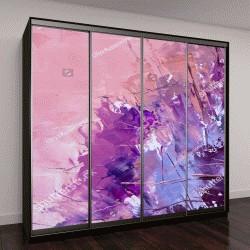 """Шкаф купе с фотопечатью """"Абстрактная живопись масляными красками"""""""