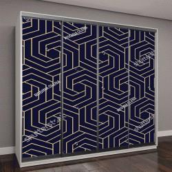 """Шкаф купе с фотопечатью """"Абстрактный геометрический узор из линий, ромбов """""""